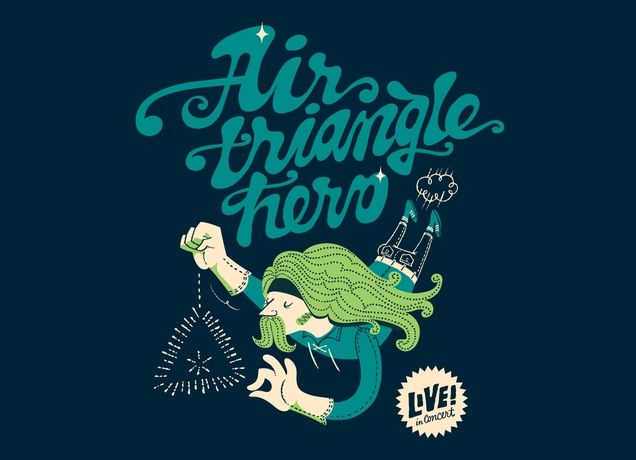 Air Triangle Hero - Tshirt by Esther Aarts