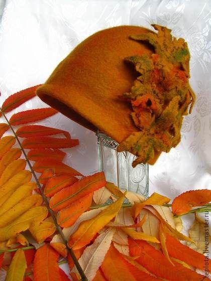 """шляпка валяная """"Осенний шик"""" - шляпка валяная,валяная шляпка,шляпа клош"""
