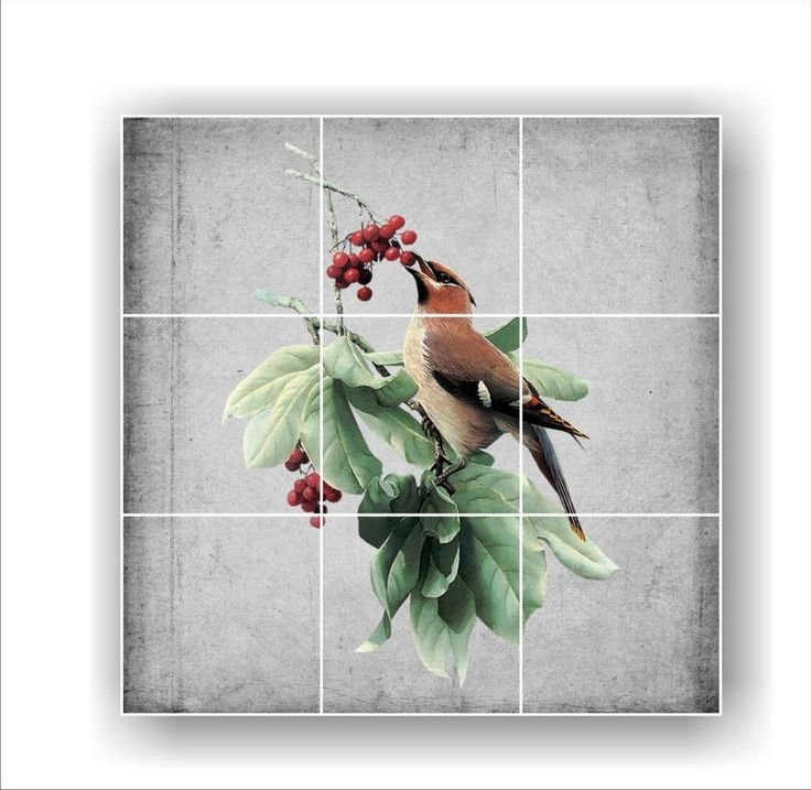 9 Tile Ceramic Tile Mural Backsplash 12 75 Quot X 12 75 Quot Size