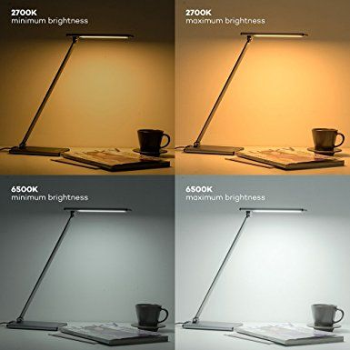 TaoTronics Fully Touch Enabled LED Desk Lamp No Buttons Table Lamps For Bedrooms