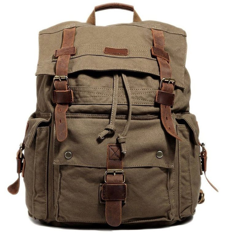 Large Olive Hiking Canvas Backpack for Only $84.99 | SerBags