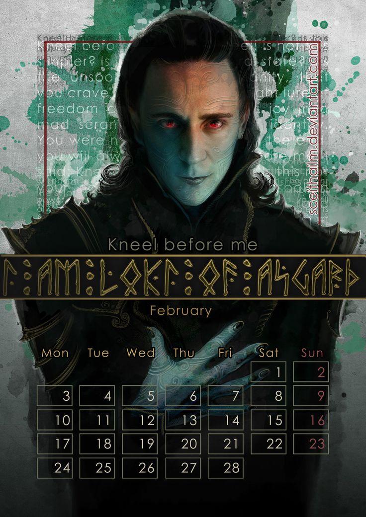 Geek Calendar 2014: February by SceithAilm.deviantart.com on @deviantART