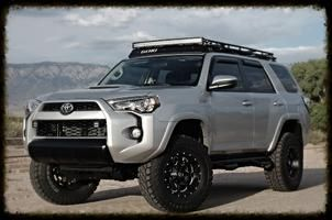 toyota 4runner 2015 -- love the roof rack and LED light combo