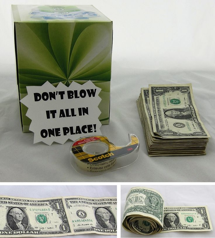 Looking to give some cash to your favorite grad? Create an element of surprise by giving a tissue box filled with money. #cashcrafts #gradgifts