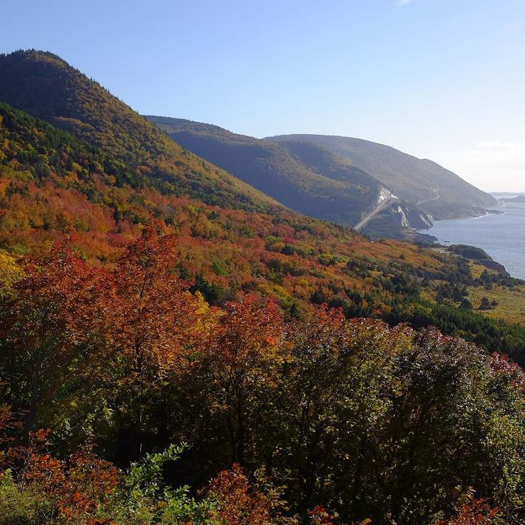 We are exploring Cape Breton Island this week--and the gorgeous fall colours are in full effect! Love it!  #gomedia2016 #explorecanada #exploremag #travel #capebreton
