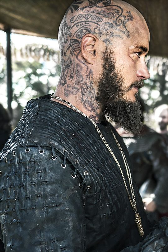 lecterlannister:   Ragnar | Breaking Point (x) I would love to see the tats close up to see the stories they tell