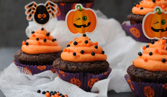 Cupcakes Halloween de Chocolate y Naranja