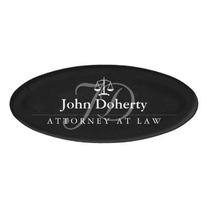 Scales of Justice | Elegant Name Tag - elegant gifts gift ideas custom presents