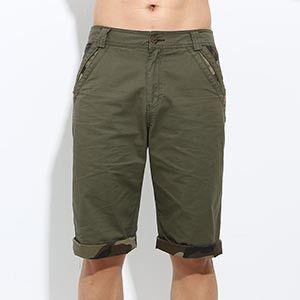 Men Plus Size Shorts, Fashion Casual Shorts, Army Green Cotton Shorts Size 29-38