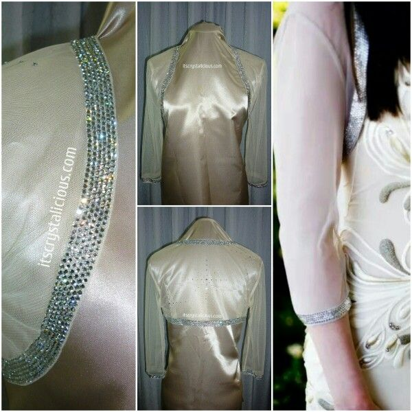 Custom made and designed bolero made for my beautiful friend Sabrina for her Wedding day. The design consists of thousands of hand place SWAROVSKI® ELEMENTS including 3 star patterns featured on the back   #swarovskielements #swarovski #bridalinspiration #blackdiamond #beautifulwedding #bride #bling #bolero #bridal #bridetobe #crystalicious #couture #crystals #designer #diamonds #embellished #fashion #glam #handmade #instawedding #love #model #oneofakind #stars #sparkle #wedding…
