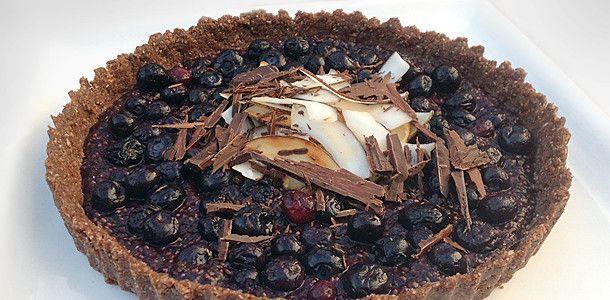 CaveGirl New Zealand – Eating Clean and Paleo – Blueberry Tart