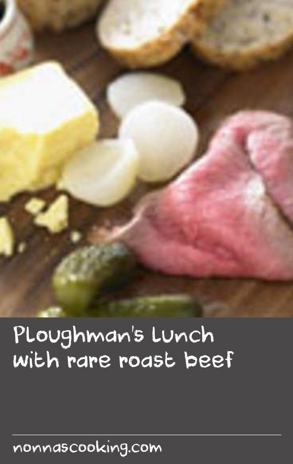 Ploughman's lunch with rare roast beef | Ploughman's lunch with rare roast beef