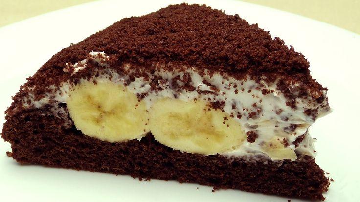 Mole Cake Recipe   Cake with Banana and Chocolate