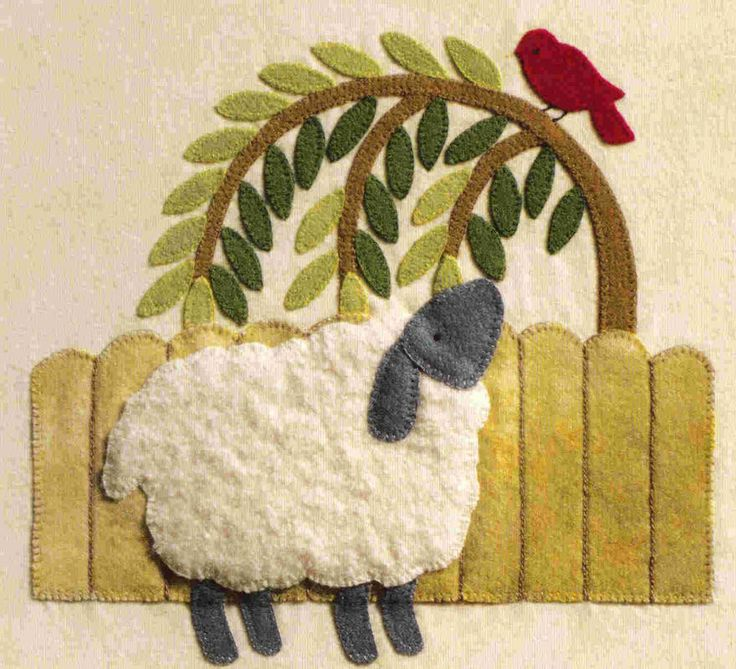 ✄ A Fondness for Felt ✄ felted craft diy inspiration - felted sheep scene | Brandywine Designs