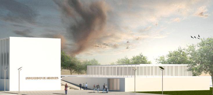 Primer Lugar Concurso Escuela Técnica de la Universidad de Mendoza - ETEC,Cortesía de IN Estudio Arquitectura