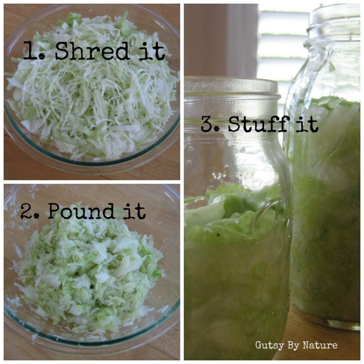 Adventures in Fermentation: Easy Homemade Sauerkraut - Gutsy By Nature