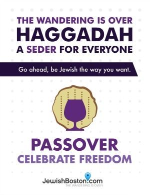 """JewishBoston.com's """"The Wandering Is Over Haggadah"""" Free PDF and Word Doc Downloads"""