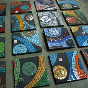 Image of 10 8x8 Mosaic Coasters Pinterest Mosaics