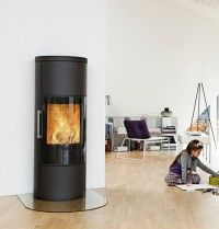 Hwam 3650 tall freestanding contemporary woodburning stove