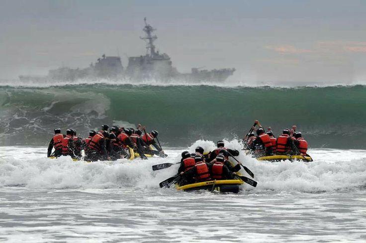 Naval Base Coronado, San Diego. CA (January 21, 2014) US Navy Seal Teams training for underwater demolition (BUDS)