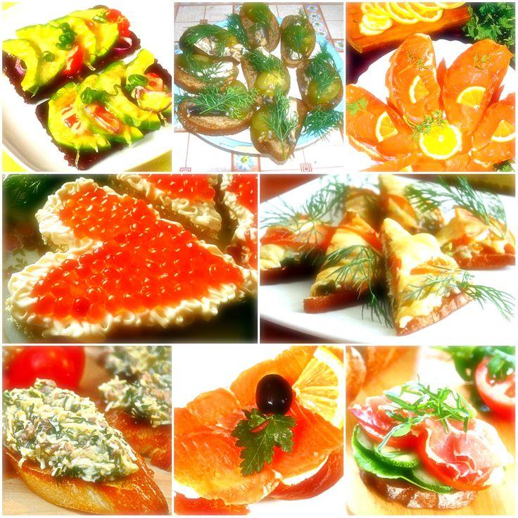 Бутерброды на праздничный стол, рецепты с фото простые