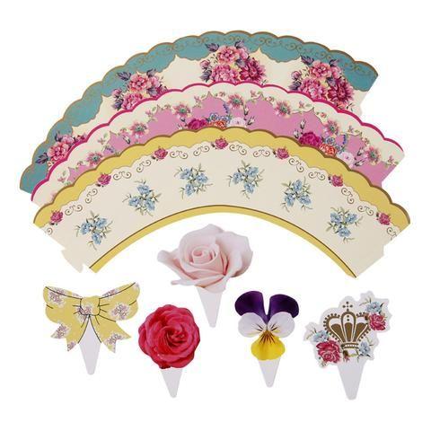 марочные чай цветочный торт обертываний и стразов