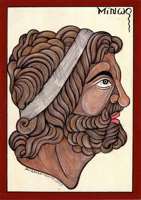 ΜΙΝΩΑΣ... ήταν γιος του Δία και της Ευρώπης. Μετά την αρπαγή της Ευρώπης από τη Συρία ο Δίας τη μετέφερε στην Κρήτη. Εκεί απέκτησε μαζί της τρείς γιούς, το Μίνωα, το Ραδάμανθυ και το Σαρπηδόνα....
