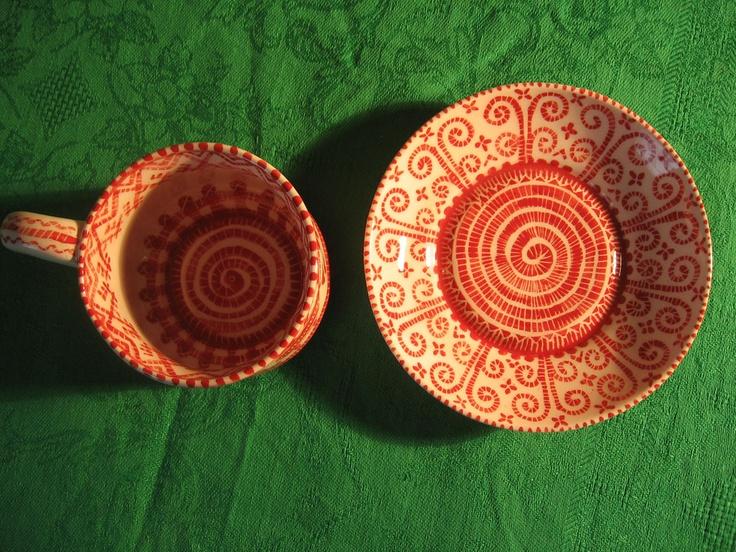 Фарфоровая посуда, чайная пара