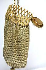 Античная сетки металла Кошелек ж / Gate Top, компактное зеркало, с монограммой