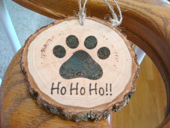 Personalized Pet Ornament Wood Slice Christmas by SweetHomeWoods