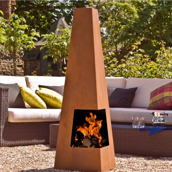 10 Easy Pieces Chimineas Gazebo with fire pit, Home