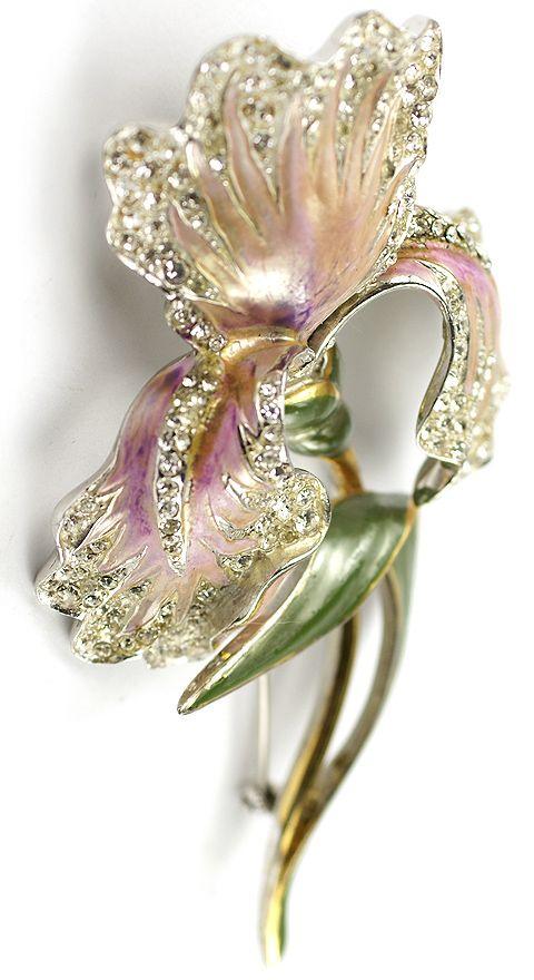Boucher Floral Pin Trifari.com