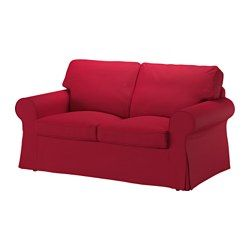 IKEA - EKTORP, Two-seat sofa, Nordvalla red, , Seat cushions filled with high resilience foam and polyester fibre wadding give comfortable support for your body, and easily regain their shape when you get up.Reversible back cushions filled with polyester fibres provide soft support for your back and two different sides to wear.The cover is easy to keep clean as it is removable and can be machine washed.A range of coordinated covers makes it easy for you to give your furniture a new look.10…