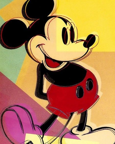 Andy Warhol, Mickey Mouse, 1982 on ArtStack #andy-More Pins Like This At FOSTERGINGER @ Pinterest
