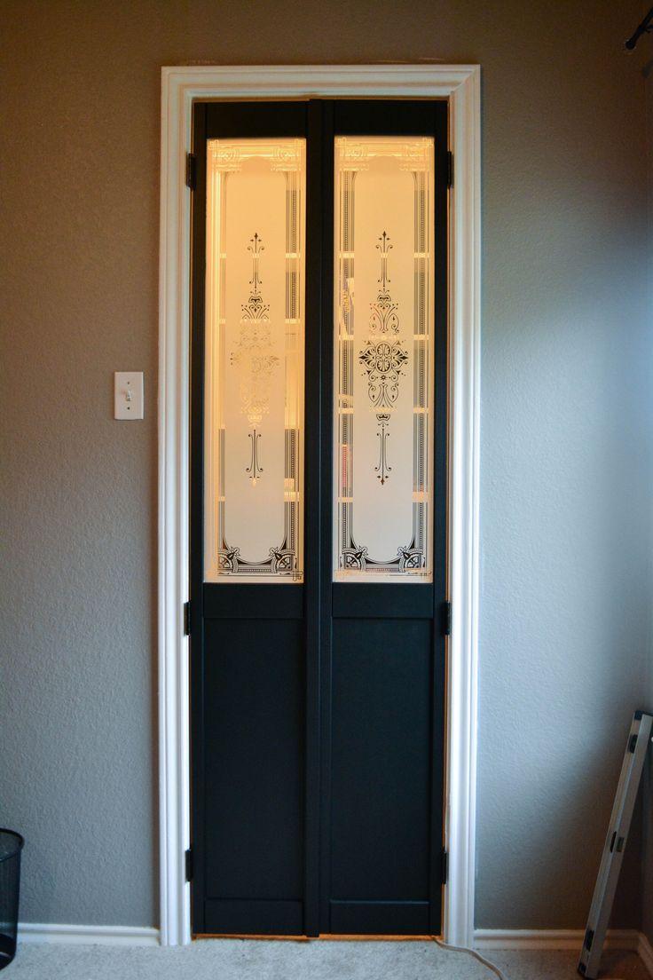 Turning bifold door into French doors  Bathroom inspo