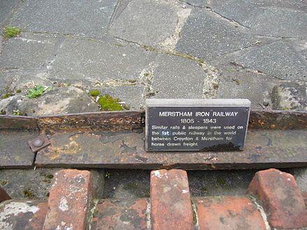 A piece of the Croydon, Merstham and Godstone Railway near Quality Street ................... Merstham Kawałek linii Croydon, Merstham i Godstone w pobliżu Quality Street