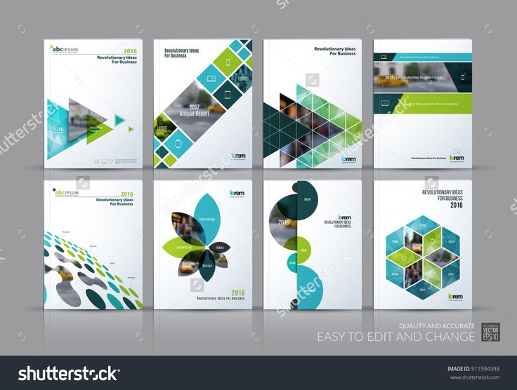 Business vector set. Brochure template layout, cover design annual report, magaz…