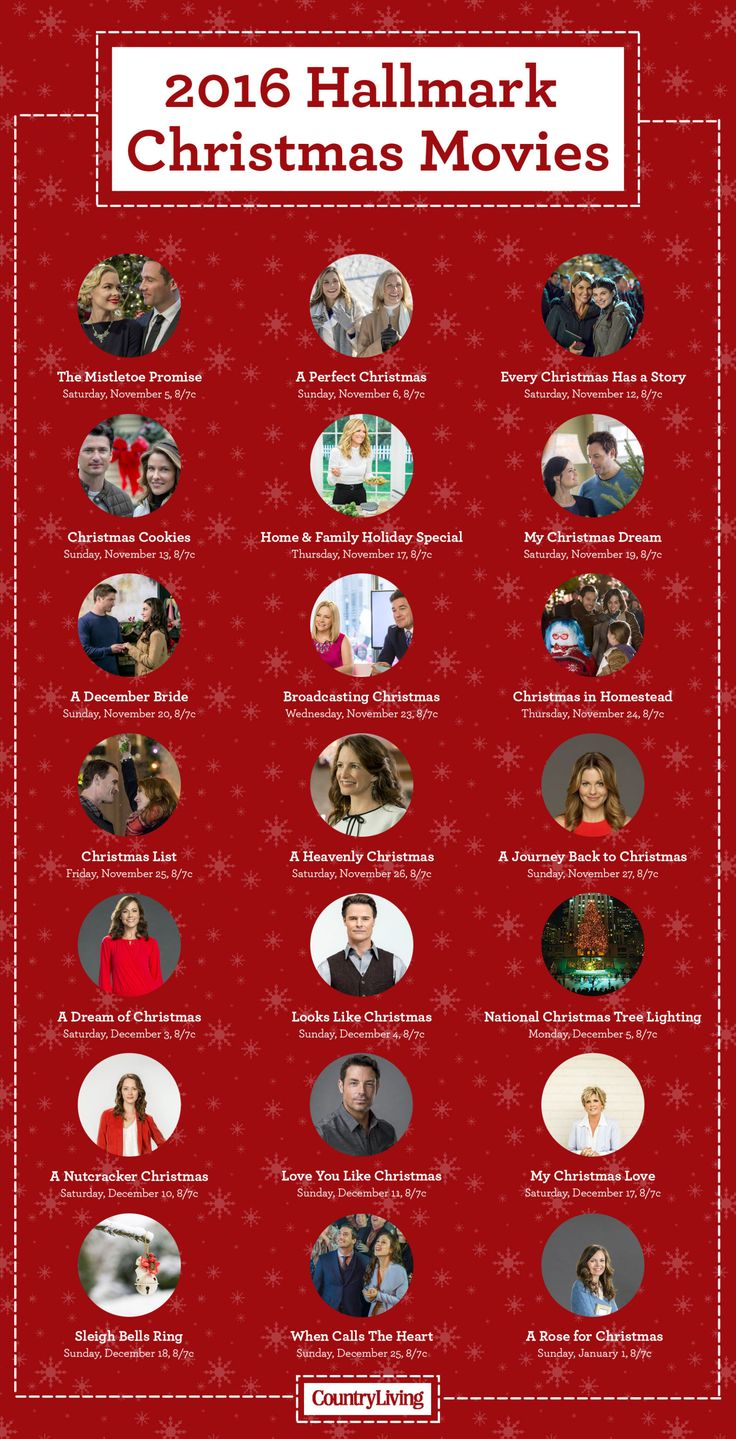 The countdown is on! 2016 Christmas movie lineup!!