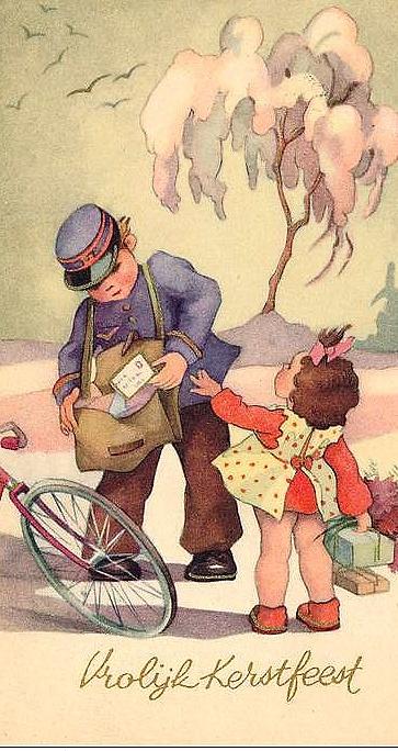 Vintage Vrolijk Kerstfeest NL~KERST~POSTKAART...................lb xxx.QQQ