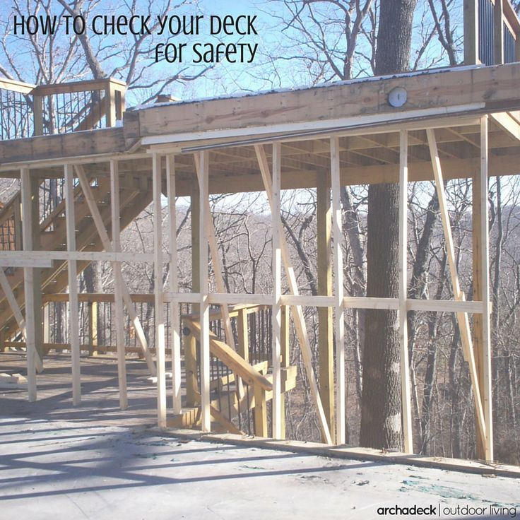 Do you sometimes wonder about deck safety?  Well, you probably should.  It's a real issue.  As decks across the U.S. have aged, proper maintenance and periodic inspections have sometimes been neglected or completely ignored. And when those decks are packed-with-people a collapse can occur and cause serious injuries.  But a simple DIY, seven-point inspection plan and how-to video will help you spot trouble. | How To Check Your Deck For Safety