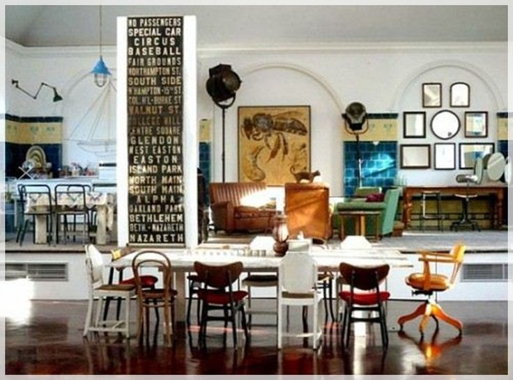 Eclectic Dining Room Mismatched Chairs ChairsLiving SpacesDark