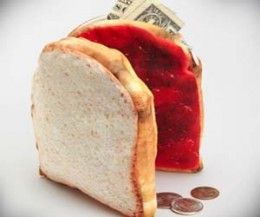 9 Weird Cool things to buy on Amazon for cheap today penut butter and jelly wallet