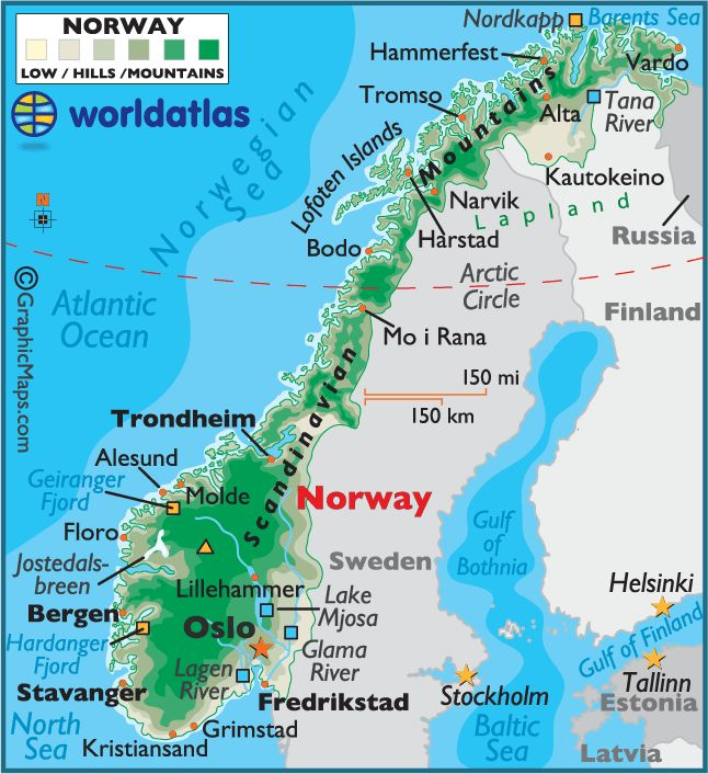 Norway : map