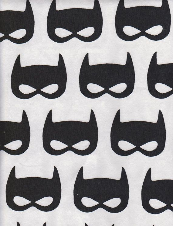 batman inspir des masques de super h ros sur tissu tricot jersey lycra de coton blanc sku. Black Bedroom Furniture Sets. Home Design Ideas