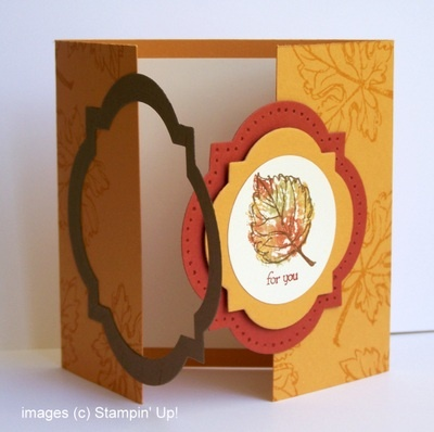 Tutorial for interlocking framelits.  Window frames and Gently Falling stamps.