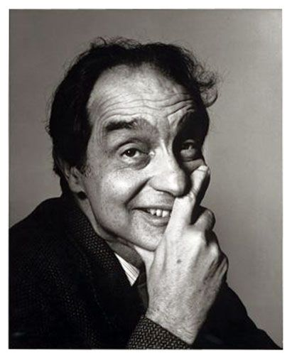 """Italo Calvino, 1983 -by Irving Penn  Salman Rushdie on Italo Calvino - from a talk given by Rushdie: """"Italo Calvino's Imaginary Real"""" (PEN American Center):    All writers build roads from the world in which they live to the world of the imagination and I think Calvino more than anyone else was interested in that road: How is it built? What are its bricks? How do you get there from here? By what journey does one reach Wonderland, or Alphaville, or Oz? What is their relations"""
