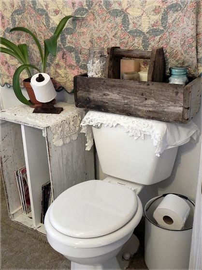 Repurposed Vintage Bathroom Toilets Storage Ideas And
