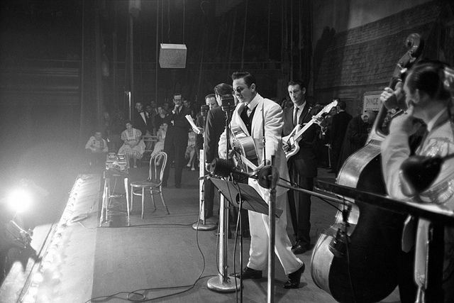 Johnny Cash & The Tennessee Two on The Grand Ole Opry Show, late 1950s   Flickr - Photo Sharing!