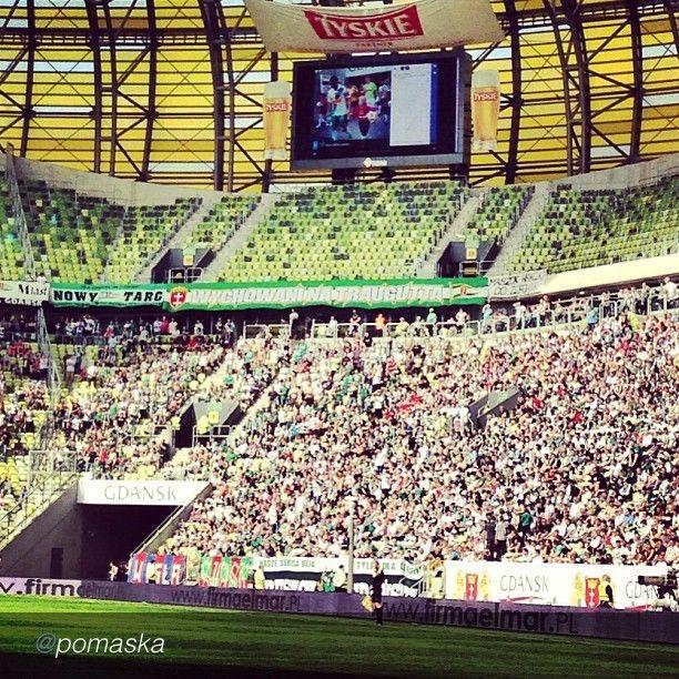 Our instapics  on big stadium screens! The best pics of Igersgdansk Instareporters. Lechia Gdansk #football #soccer #sport #pgearena #instamood #instagood #bwautiful #igers #instagramers #igerspoland by @Aga Pomaska via @InstaReposts (w: Przystanek PGE ARENA Gdansk)