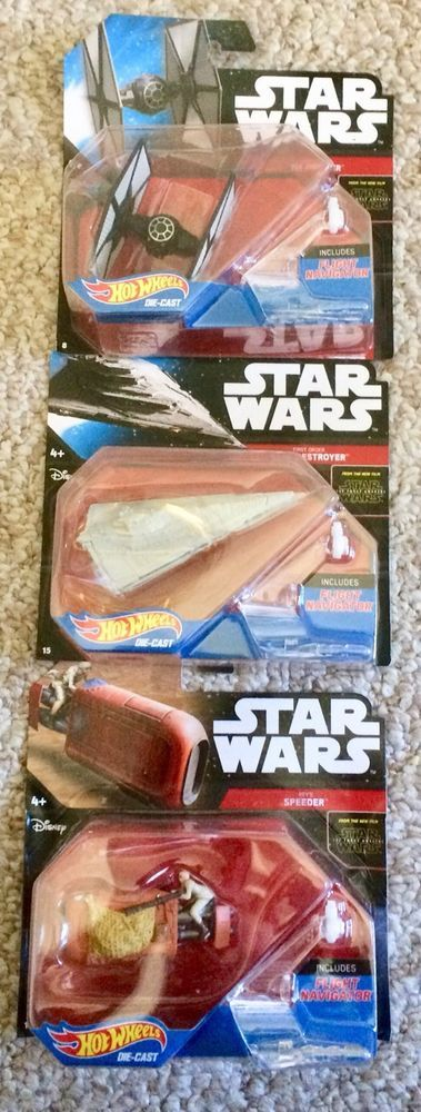 NEW Hot Wheels Die-Cast STAR WARS LOT of 3 Starships  | eBay
